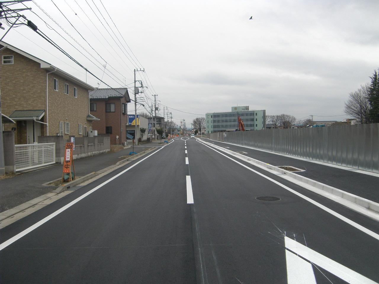 二中地区(第三)土地区画整理事業 都市計画道路整備工事 写真