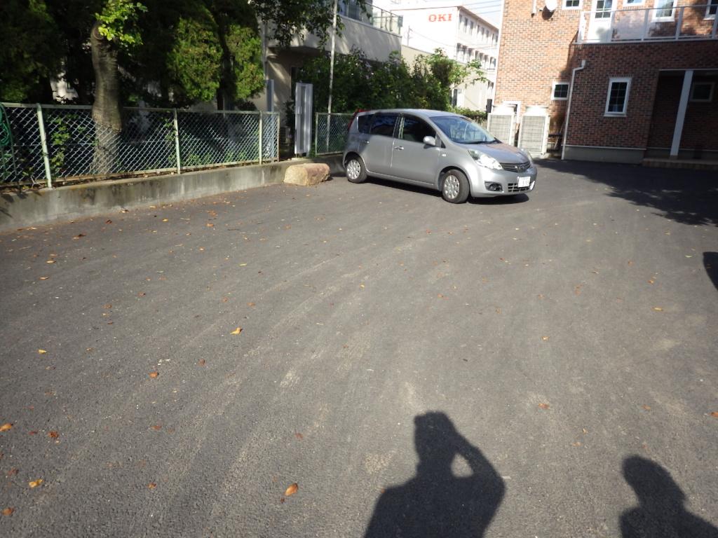 駐車場区画線設置工事 施工前