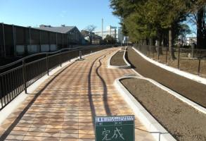 二中地区(第三)土地区画整理事業 広瀬川河畔道路整備工事