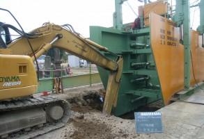 六供土地区画整理事業 公共下水道工事