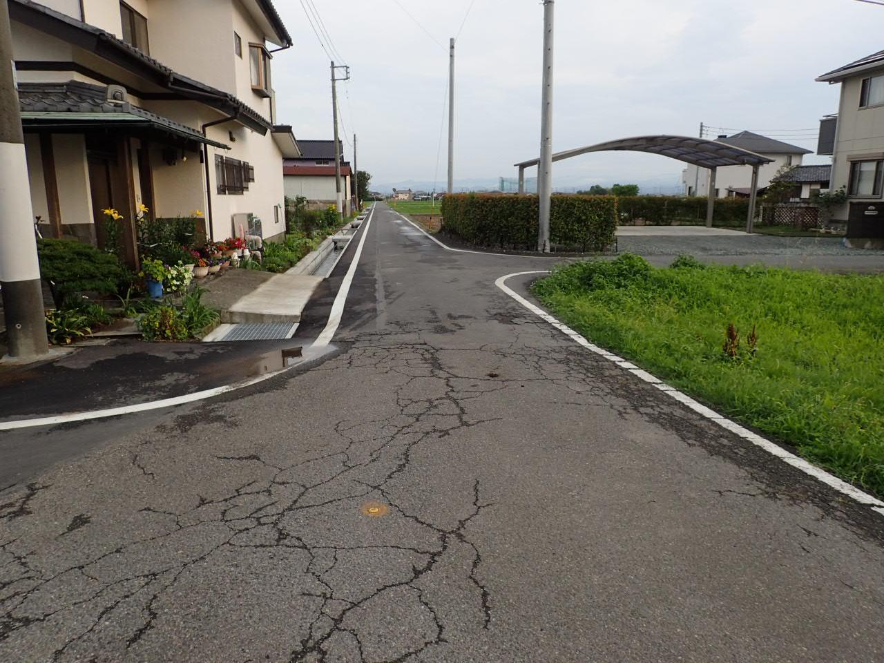 上川淵地区 公共下水道工事 施工前