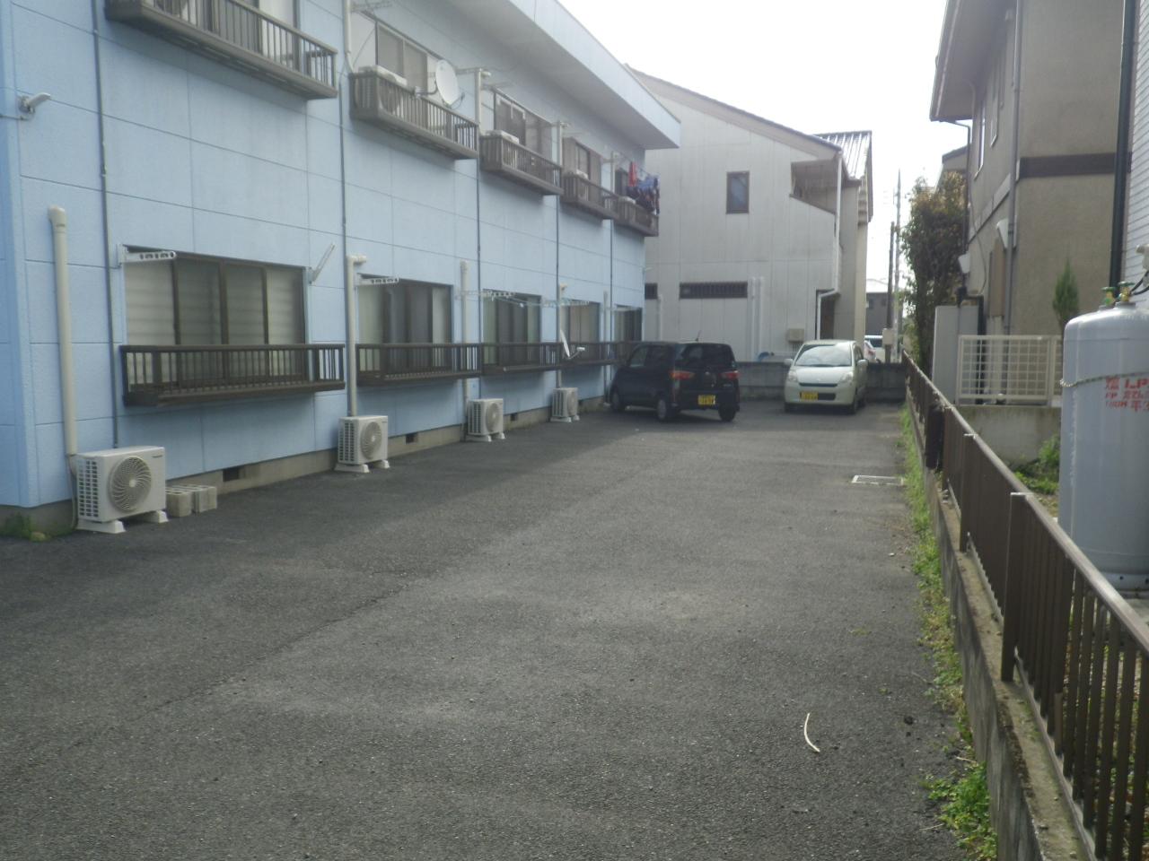 太田市㈱Kホーム駐車場区画線設置工事 施工前