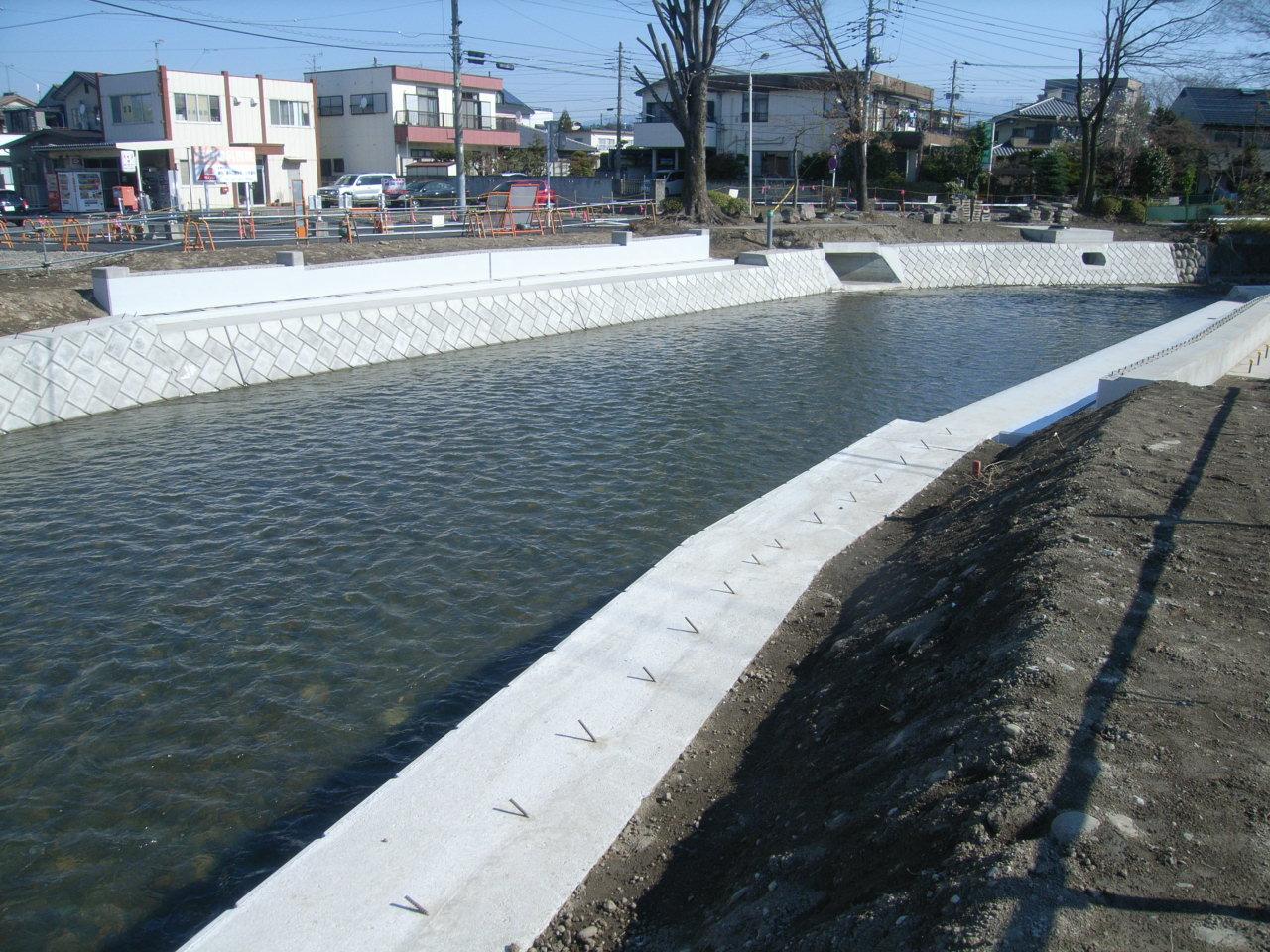 二中地区(第三)土地区画整理事業 橋梁下部工工事完了について 施工後