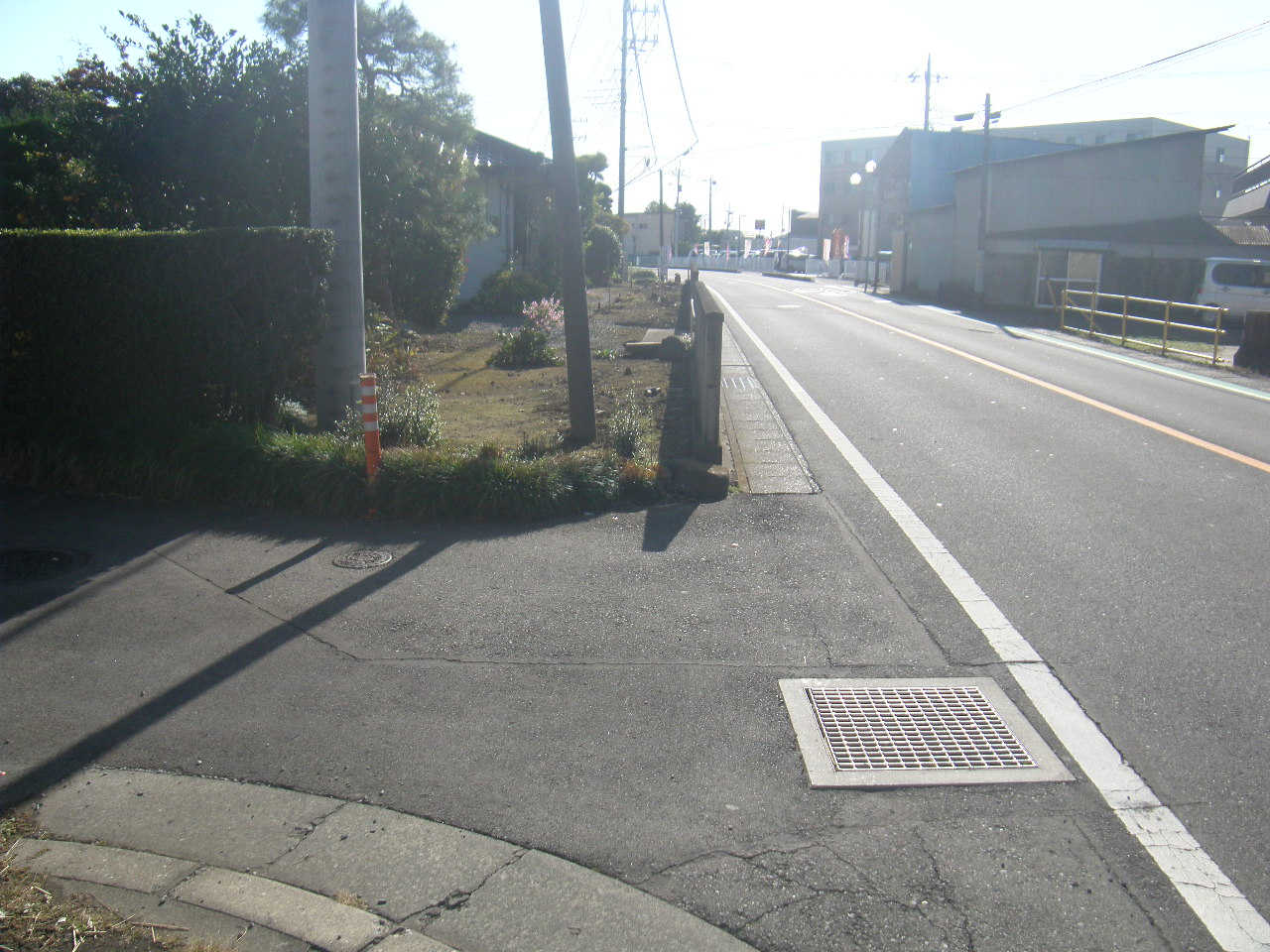 (一)津久田停車場前橋線 北代田町地内 歩道設置工事 施工前
