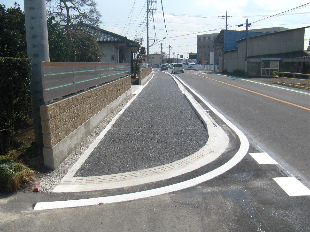 (一)津久田停車場前橋線 北代田町地内 歩道設置工事 施工後