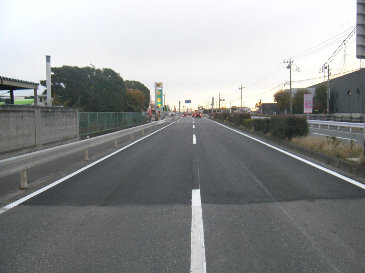 単独道路維持修繕事業(緊急路面改善)ニューイヤー駅伝コース補修 施工後