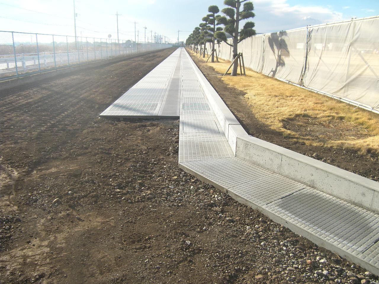 単独7軸道路整備推進事業水路工分割2号 施工後