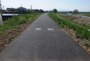 単独公共 単独河川改修事業 堤防舗装工