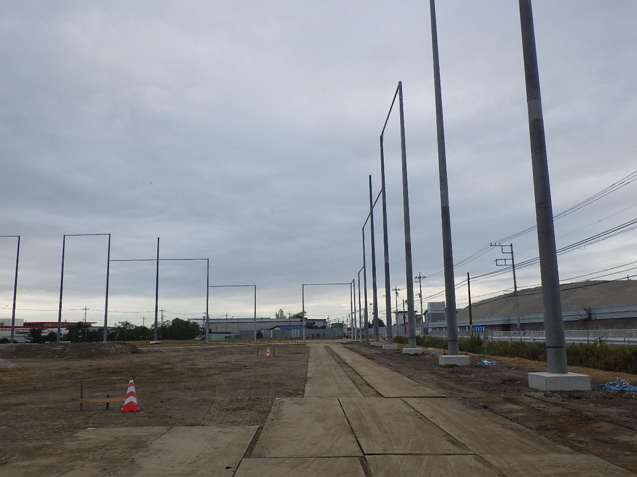 前橋第二グラウンド 防球ネット工事 分割1号 施工後