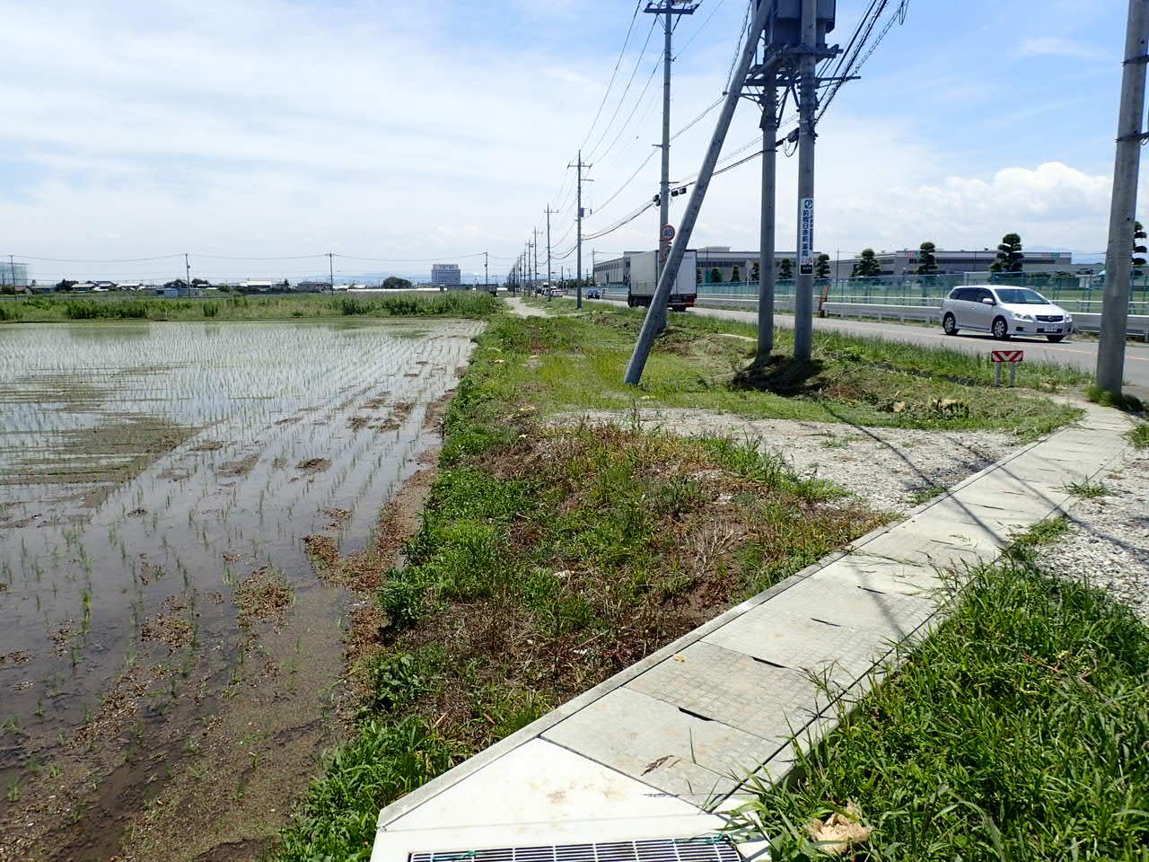 単独道路改築事業 水路工 分割6号 施工前