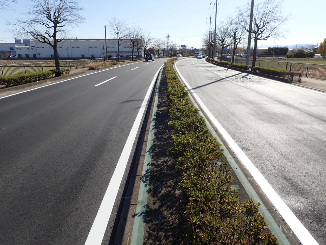 補助公共社会資本総合整備(防災・安全)(地方道舗装)舗装修繕工事 施工後